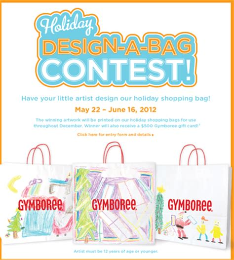 contest for students gymboree shopping bag contest win 500 gift