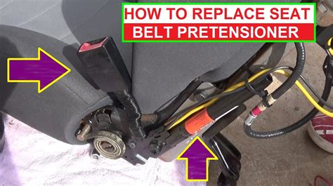 seat belt tensioner resistance high how to remove and replace seat belt pretensioner