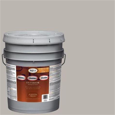 glidden premium 5 gal hdgcn50 candlestick silver semi gloss exterior paint hdgcn50px 05s
