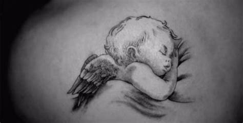 tiernos tatuajes de angeles bebes para catalogo