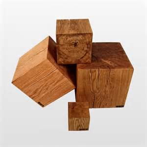 wood block dice as a wooden stool 100 solid in many sizes
