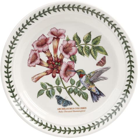portmeirion botanic garden birds portmeirion botanic garden birds plate 20cm ruby throated