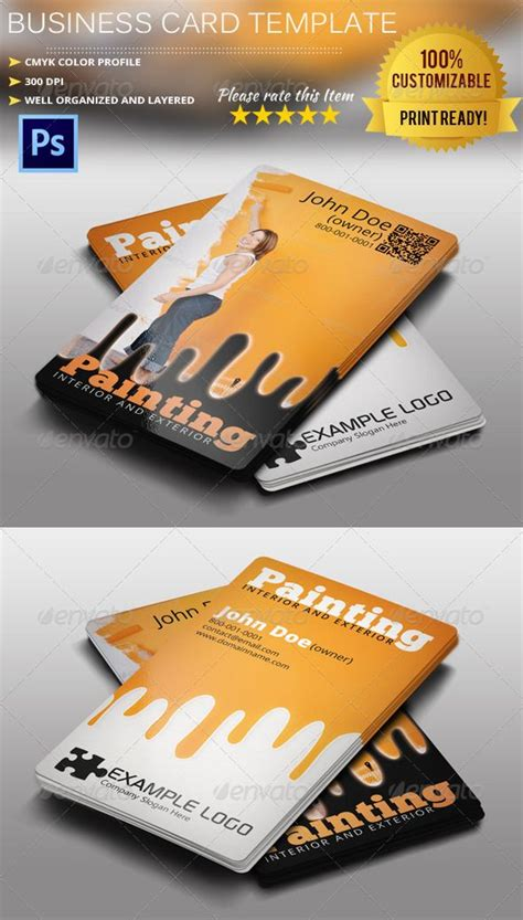 painting business card template psd business card size paint gallery card design and card