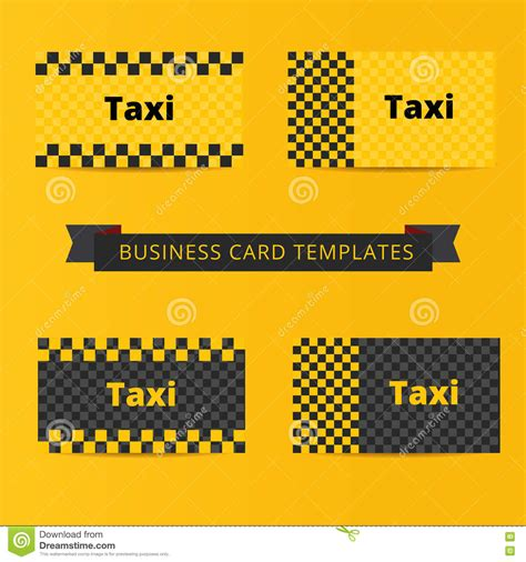 taxi cab business card templates wheel illustrations vector stock images