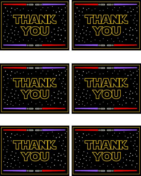 printable thank you cards star wars star wars free printables catch my party
