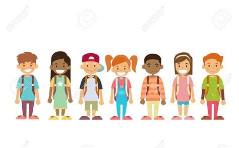 children clipart children in line clipart 101 clip