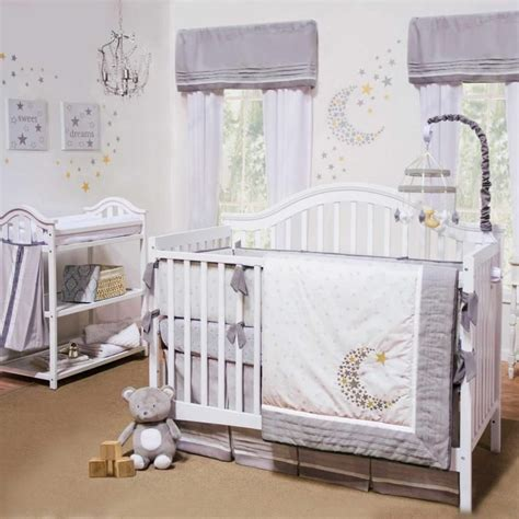Unisex Nursery Bedding Sets Petit Tresor Of Beverly Nuit 4 Crib Bedding Set