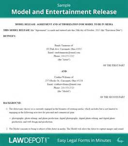model release form free entertainment release contract