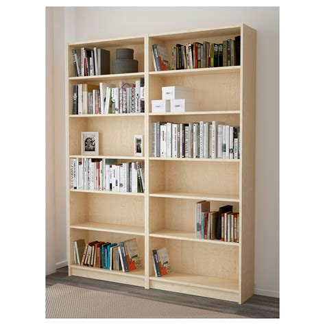 ikea blue billy bookcase billy bookcase birch veneer 160x202x28 cm ikea