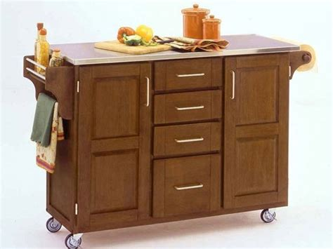 Portable Kitchen Islands by Portable Kitchen Island With Classy Look Kitchenidease Com
