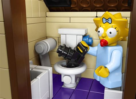 simpsons bathroom lego simpsons house 71006 officially announced images