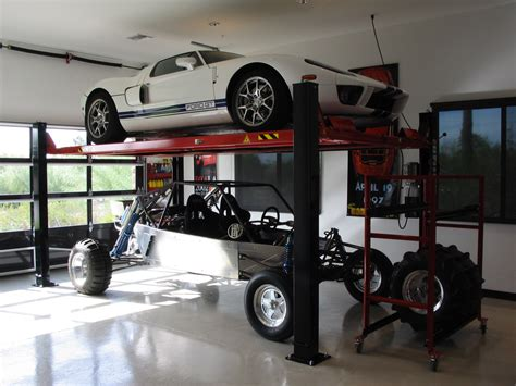Garage Car Storage Lift by Custom Garage Equipment Acculine Direct Lift Rotary