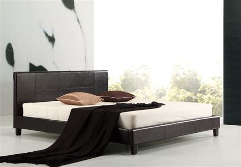 leather king bed king pu leather bed frame black