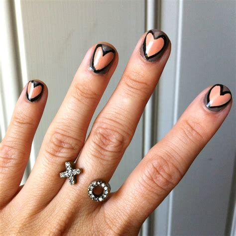 easy nail art heart 22 simple and easy nail art designs you can do yourself