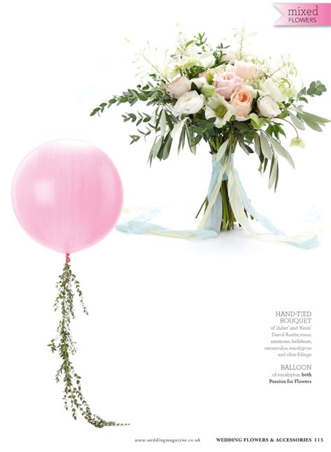 Wedding Bouquet Magazine by Gold Candelabra Centrepieces Balloons With Trailing