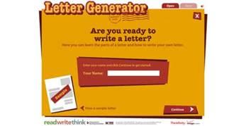 Letter Generator Readwritethink S Letter Generator Reviews Edshelf
