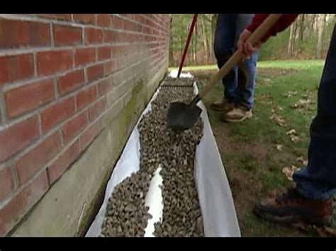 how to drain low spot in yard do it yourself for home