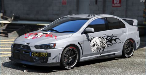 mitsubishi lancer evo 3 modification mitsubishi lancer evolution x fq 400 skull tribal paintjob