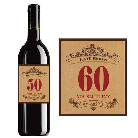 wine birthday custom happy birthday wine label vintage bottle labels