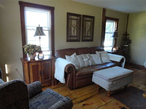 brown with wood trim brown leather paint drop cloth pillows and wood