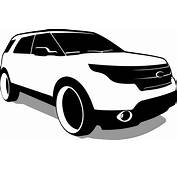 Ford Explorer Black And White PNG Clipart  Download Free
