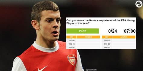 epl player of the year quiz name every pfa young player of the year award winner