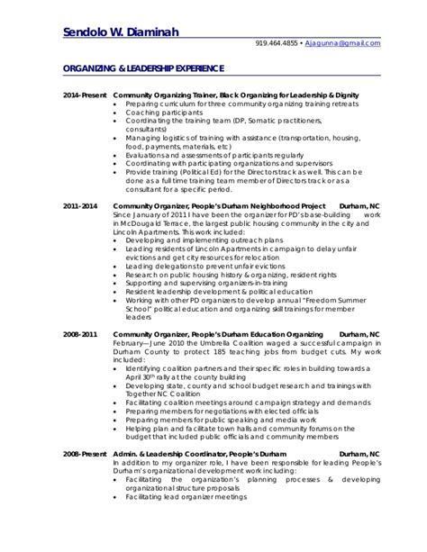 community organizer resume images