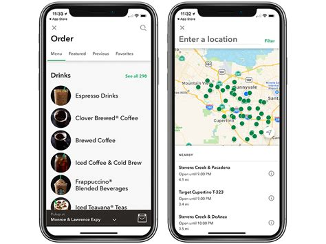 layout new app starbucks app for ios updated with new stores and ordering