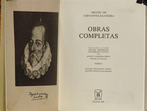 libro fp miguel angel obra completa obras completas miguel de cervantes saavedra 2 tomos 1 160 00 en mercado libre