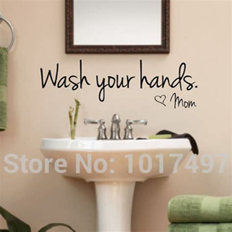 bathroom wall art stickers bathroom wall stickers wash your hands love mom waterproof