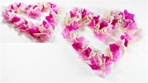 Wedding Paper Crafts - 3d paper wreath diy valentines crafts easy for