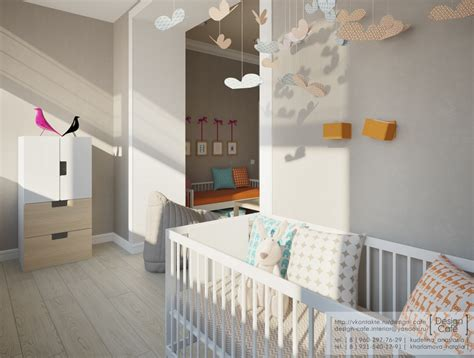 nursery in bedroom young family apartment bedroom childs nursery interior