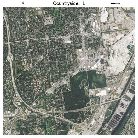 aerial photography map of countryside il illinois