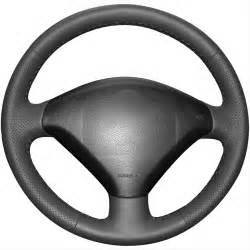 Steering Wheel Covers Peugeot 307 Aliexpress Buy Black Artificial Leather Car Steering