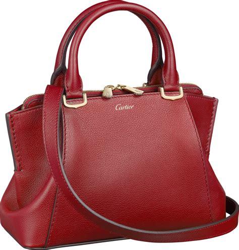 crl1001910 c de cartier bag mini model spinel colored taurillon leather golden finish