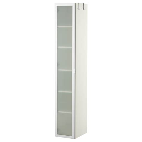 Ikea Bathroom Storage Cabinet by Lill 197 Ngen High Cabinet White Aluminium 30x38x179 Cm Ikea