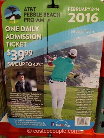 Pebble Beach Gift Card - at t pebble beach pro am one admission ticket