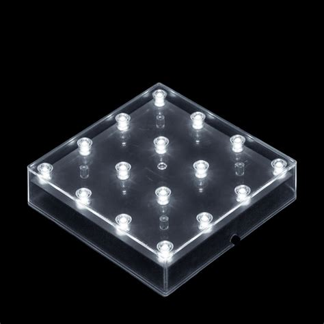 5 inch square led lightbase battery operated light base