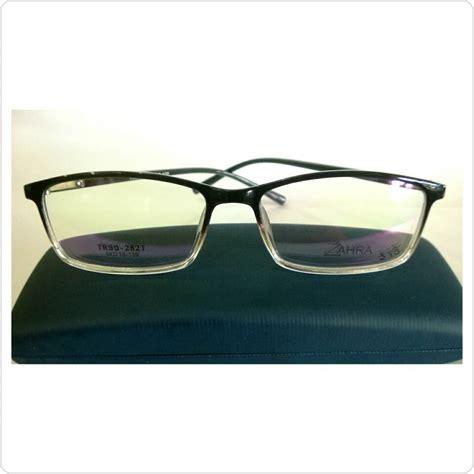 Kacamata Hitam Wanitapria jual frame kacamata pria wanita zahra warna hitam mamy shop