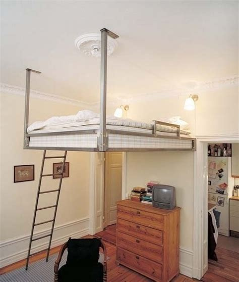 hanging loft bed space saver to do pinterest
