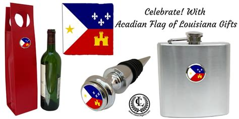 celebrate acadian flag louisiana gifts by classic legacy