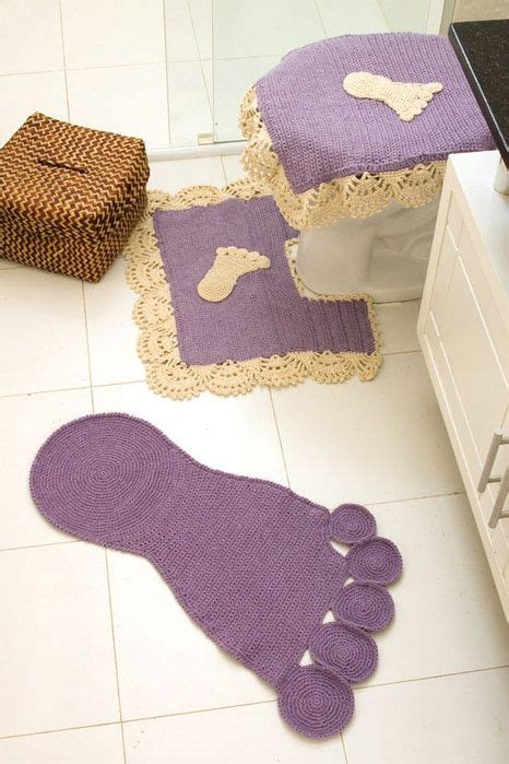 kids bathroom rug decorate home with crochet crafts videos the purple and
