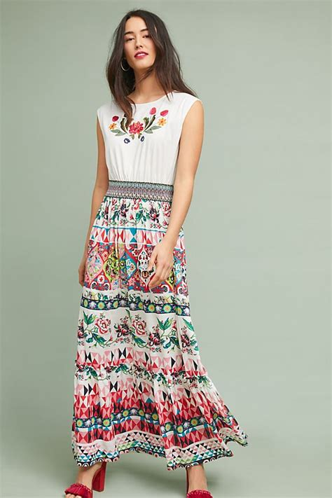Elma Dress elma embroidered maxi dress anthropologie