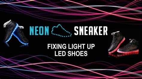 How To Fix Light Up Led Shoes Neon Sneaker Youtube How To Fix Lights