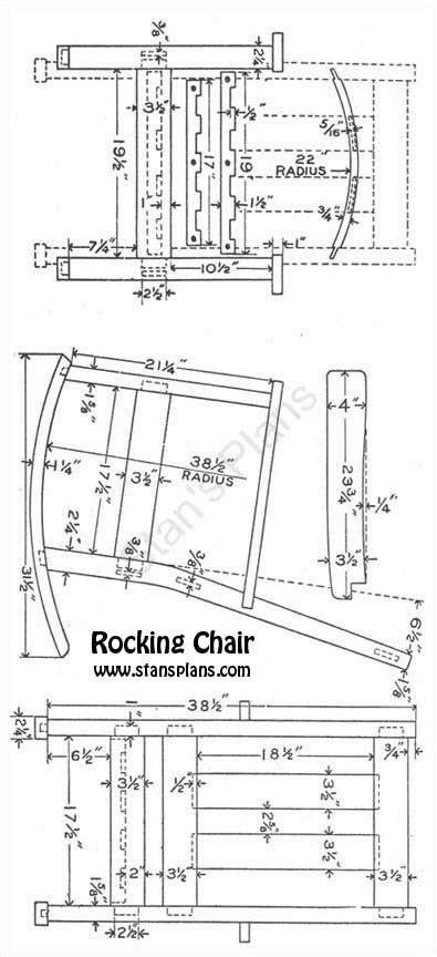 build  rocking chair plans  plans