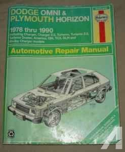 1978 1990 haynes manual dodge omni plymouth horizon auto repair book autorepair haynes handy dodge omni plymouth horizon service manual years 1978 1990 mercer new castle for sale