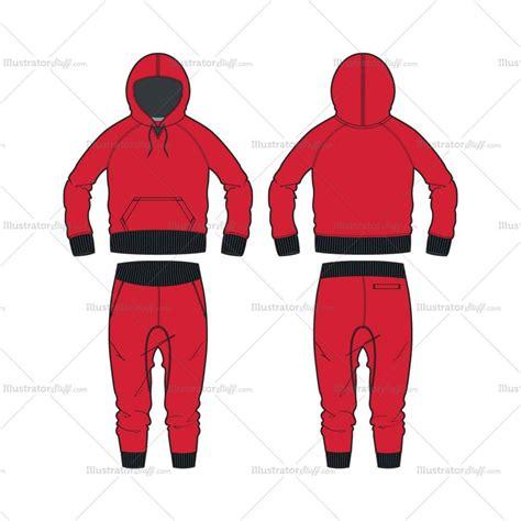 fashion illustration hoodie s fitness hoodie and drop crotch fashion flat