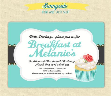 brunch invitation template free 22 wonderful breakfast invitation templates free