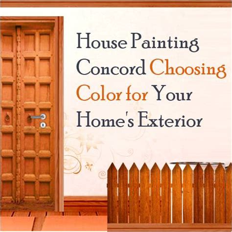 house painting concord choosing color for your home s exterior