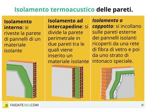isolare pareti interne dal freddo isolamento pareti interne ed esterne acustico o termico